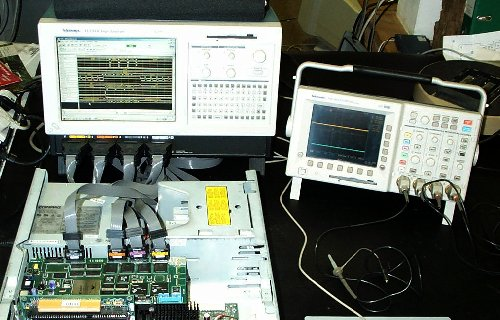 Testing a multiprocessor PCI card